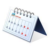 卓上カレンダーの写真